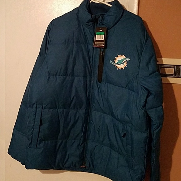 sports shoes 86acd c9c05 NFL Miami Dolphins Mens Jacket NWT